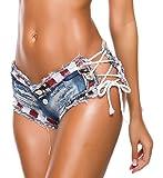 Oflive Women's Sexy Low Rise Mini Denim Shorts Jeans Hot Pants