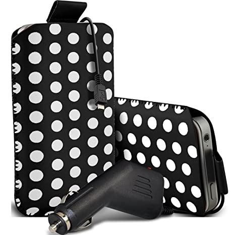 Amazon.com: LG G2 Mini Premium Protective Polka PU Leather ...