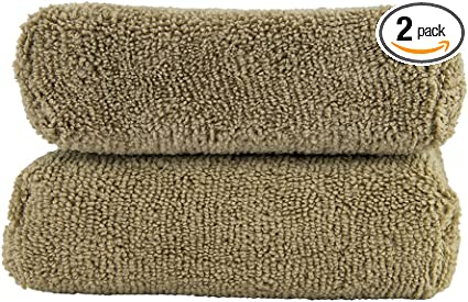 Chemical Guys MIC36203 Workhorse XL Tan Professional Grade Microfiber Towel 24 in. x 16 in. Leather /& Vinyl Pack of 3