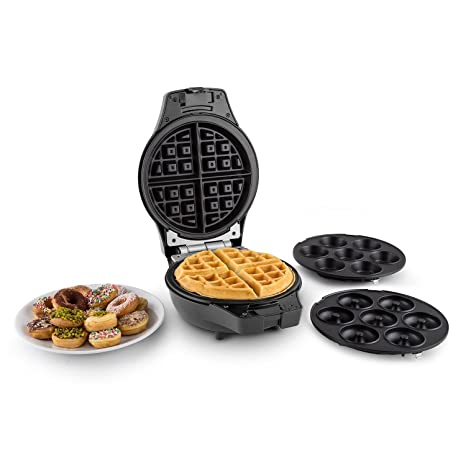 Oneconcept Trinity máquina para Mini-Donuts, buñuelos y gofres (1000 W, Placas