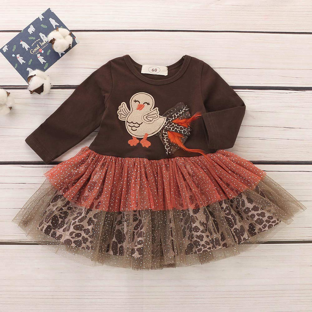 c99f6ead0 Amazon.com: GoodLock Clearance!! Baby Girls Dresses Infant Toddler Turkey  Thanksgiving Day Gauze Tutu Dress Outfits Cloth: Clothing