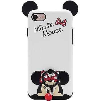 086cf0190c iPhone ケース ソフトケース ディズニーキャラクター レトロスタンダード Mickey Minnie保護カバーブラケット付きiPhoneミッキー