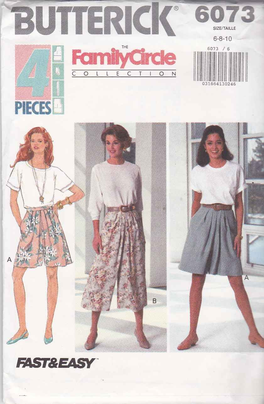 Butterick 6073 - Misses Split Skirt, Fast and Easy - Sizes 12, 14, 16 by Butterick The Family Circle Collection   B00CAZP7OW
