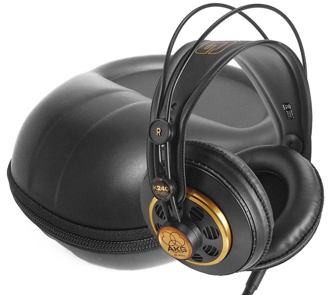 FitSand ( TM )ストレージファスナーTravel Carry EVAハードケースバッグポーチボックスカバーfor AKG K 240 semi-open Studioヘッドフォン   B01LZFJHL8
