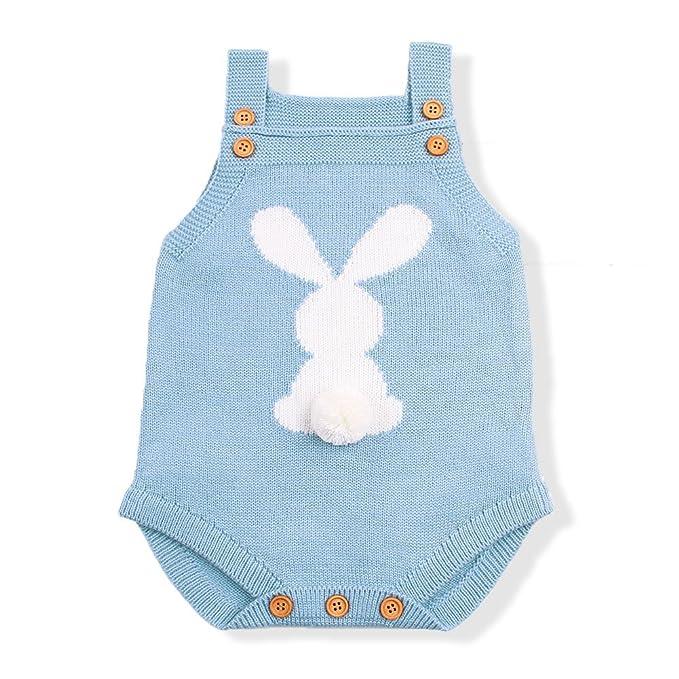 Amazon.com: Mimixiong - Mono de punto para bebé, sin mangas ...