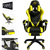 AUSELECT Gaming Chair Ergonomic High Back Chair Heavy Duty Racing Style Swivel Chair with Footrest, Headrest and…