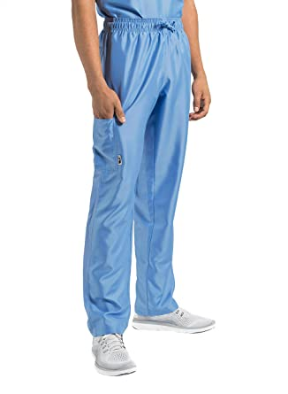37cb342351f TiScrubs Men's Relaxed Fit Cargo Pocket Scrub Pants (X-Small Tall, Ceil Blue
