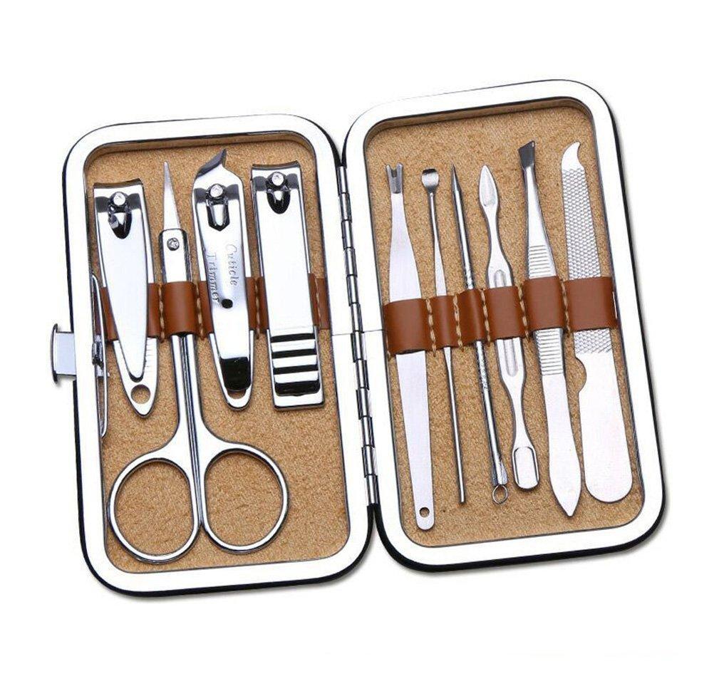 Manicure Set - Cura del Chiodo Kit Strumenti di Cura Personale Multifunzionale per Manicure Pedicure Bellezza, 10pz Set Ninjia