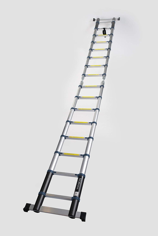 WORHAN/® Echelle 5m T/élescopique Aluminium Anodis/é Modulable Pliable Polyvalente Escabeau Solide 500cm 5m B-Line K5B