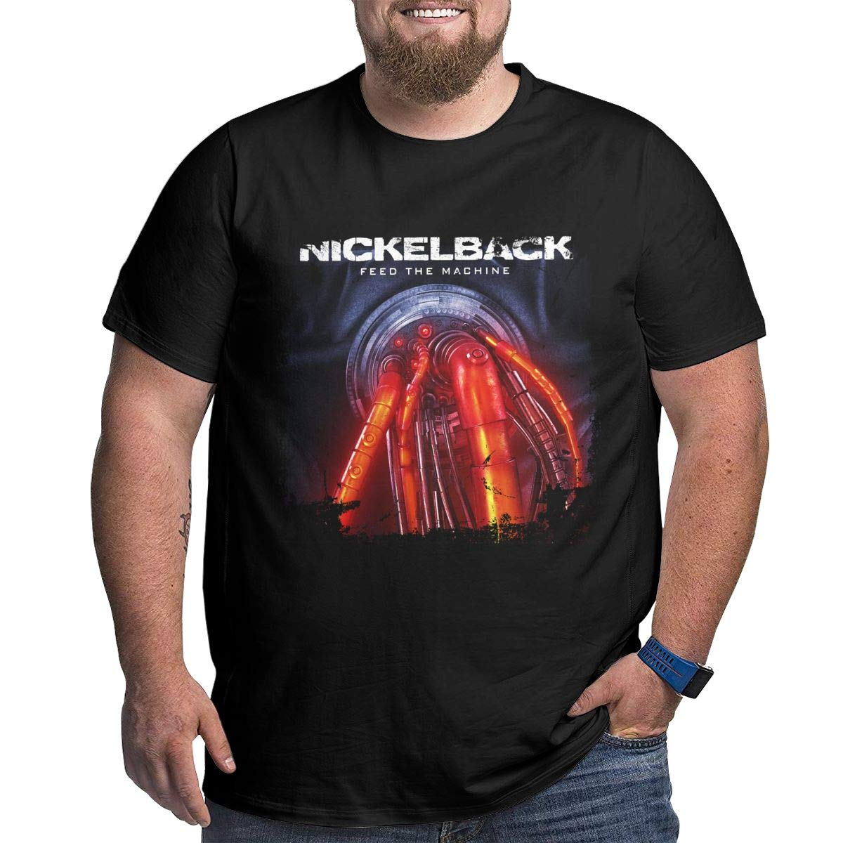 Iva Coyes S Nickelback Feed The Machine Big T Shirt Black