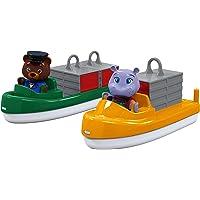 AquaPlay 8700000255 - Containerboot mit Schlepper und 2 Figuren