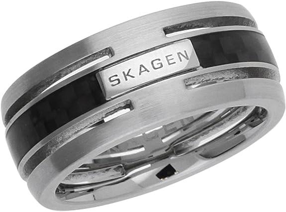 Skagen Herren Ring Rasmus SKJM0125998 Edelstahl schwarz große Größen  NEU