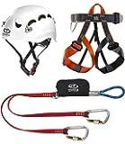 Climbing Technology Classic Kit Ferrata, Casco con Imbrago Set, Multicolore