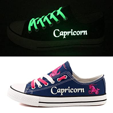 Capricorn Constellation Canvas Shoes Superstar Casual Luminous Shoe Custom Oxford Shoes