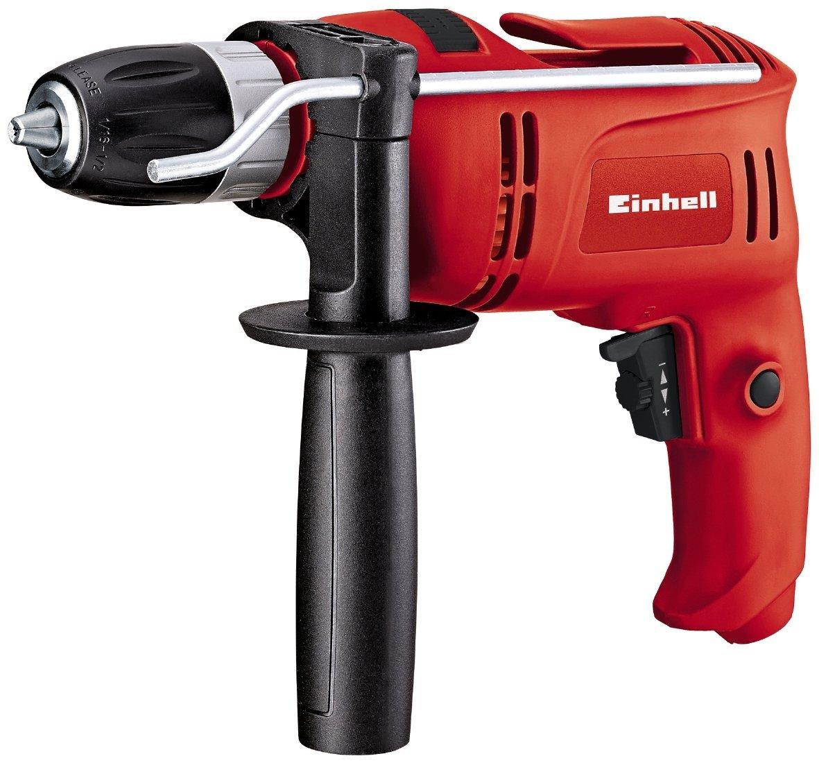 Einhell Schlagbohrmaschine TC-ID 650 E (650 W, Bohrleistung Ø Holz 25 mm, Beton 13mm, Metall 10 mm, Metall-Tiefenanschlag, Gürtelhaken) 4258682