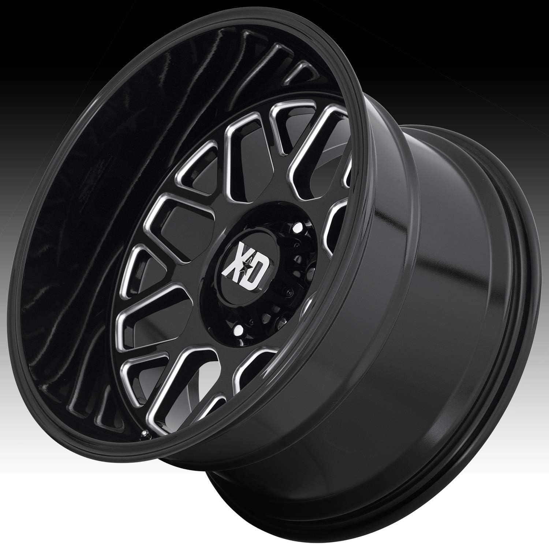 XD Series XD849 24x12 8x170-44mm Black//Milled Wheel Rim 24 Inch