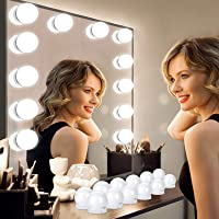 Luces para Espejo de Maquillaje, 12 Luces de Espejo de Tocador con 12 Cintas Autoadhesivas y Interfaz USB, Luces Tocador…