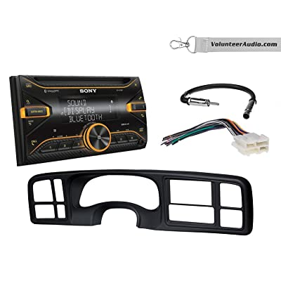 Sony WX-920BT Double Din Radio Install Kit With Sirius XM Ready, USB/AUX, CD Player Fits 1999-2002 Silverado, 1999-2002 Tahoe, 1999-2002 Yukon: Automotive