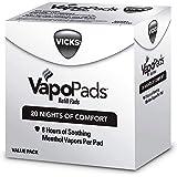 Vicks VapoPads Original Menthol Scent 20 Count Menthol Scented Vapor Pad Refills, Vicks VapoPads Aromatic Pads Help Open Sinu