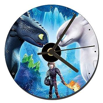 MasTazas como Entrenar A Tu Dragon El Mundo Oculto How To Train Your Dragon The Hidden World Reloj CD Clock 12cm: Amazon.es: Hogar