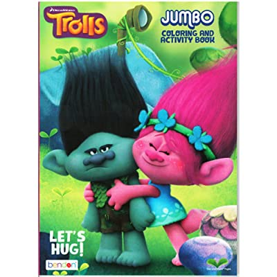 Dreamworks Trolls Lets Hug Jumbo Coloring and Activity Book: Toys & Games