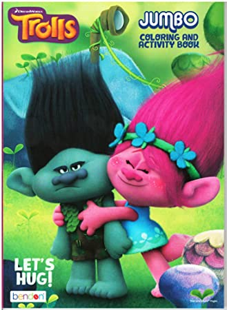 Amazon.com: Dreamworks Trolls Lets Hug Jumbo Coloring and Activity ...