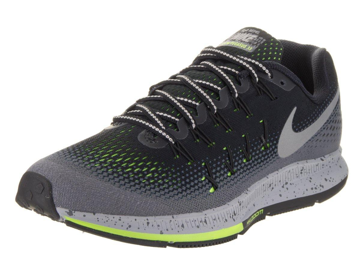 Nike Men's Air Zoom Pegasus 33 B01CHEVS0W 9.5 D(M) US|Black/Metallic Silver-dark Grey-stealth