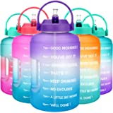 BuildLife Gallon Water Bottle with Straw & Motivational Time Marker BPA Free Water Jug Reusable Leakproof to Drink More Water