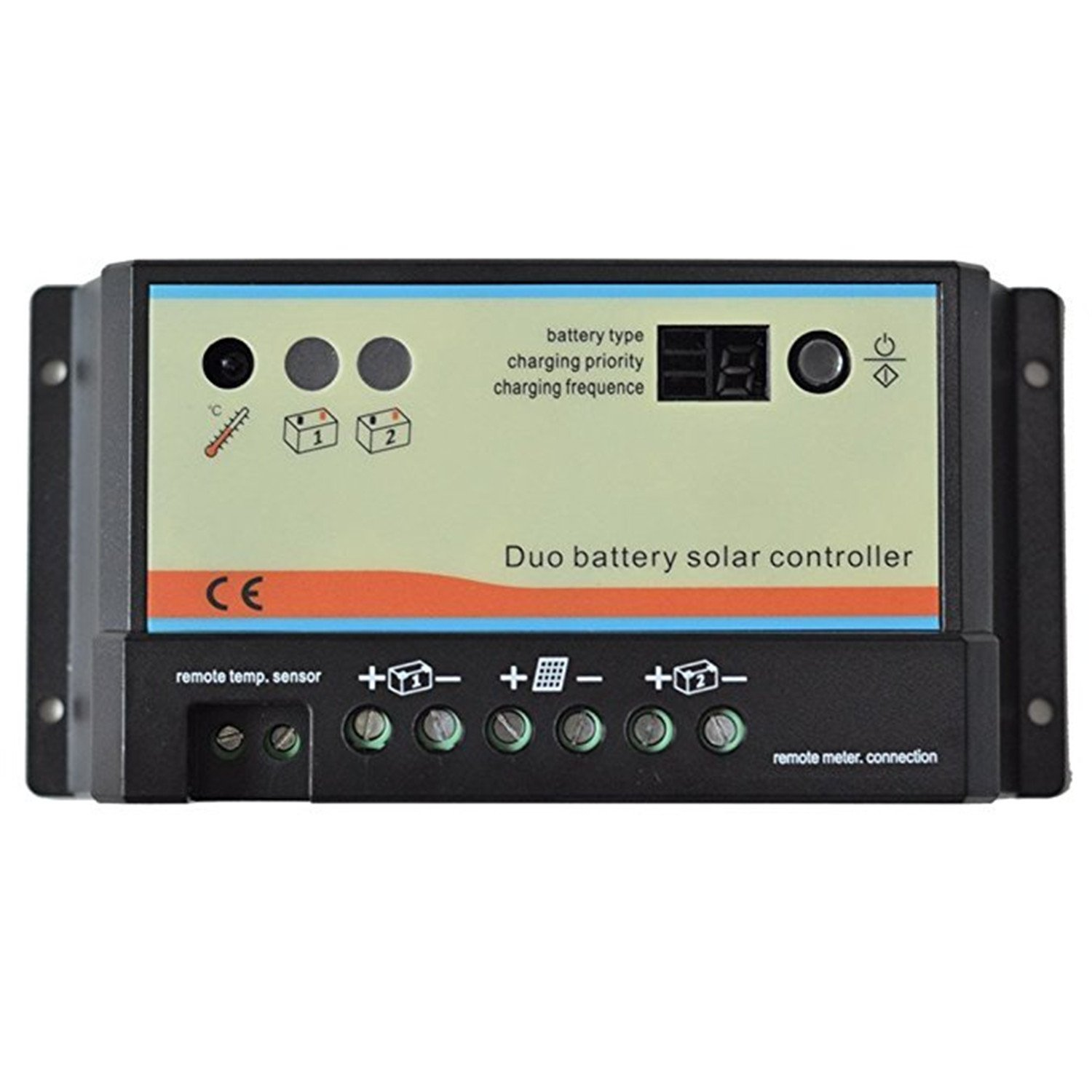 EPsolar Dual Battery Solar Charge Controller 10A 12V/24V Auto Work for RVs Caravans and Boats etc Duo Battery Solar Charging System(10A) by EPsolar