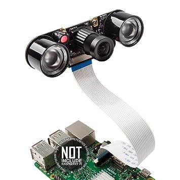 Smraza Camera Module for Raspberry Pi 4 (4gb, 2gb, 1gb) 5MP 1080p OV5647  Video Webcam Night Vision, Camera Compatible with Raspberry 4 Model B/Pi 3  2