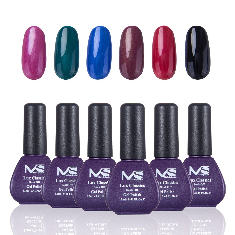 Amazon.com : MelodySusie Durable Gel Nail Polish - Lux Classics 1 ...