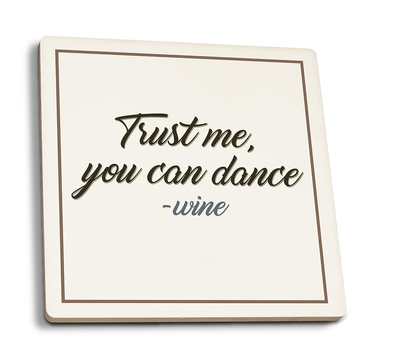 【超特価】 Quote 4 – 4 Trust Me, You Can Dance – Canvas ワインSaying Canvas Tote Bag LANT-86474-TT B07DD3V4Z3 4 Coaster Set 4 Coaster Set, シシクイチョウ:14bd47a6 --- vezam.lt