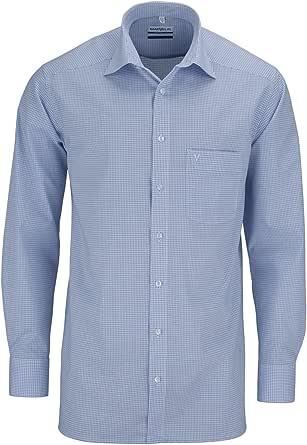 No necesita planchado Marvelis camisa azul/blanco, a cuadros ...