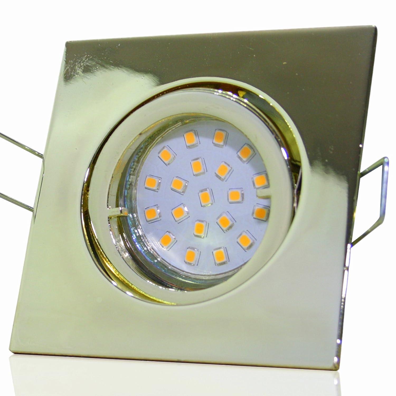 5 Stück SMD Modul Einbaustrahler Luisa 230 Volt 7 Watt Schwenkbar Gold Neutralweiß