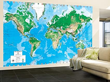 Amazon executive world map write on dry erase giant executive world map write on dry erase giant laminated map poster wallpaper mural 156 gumiabroncs Image collections