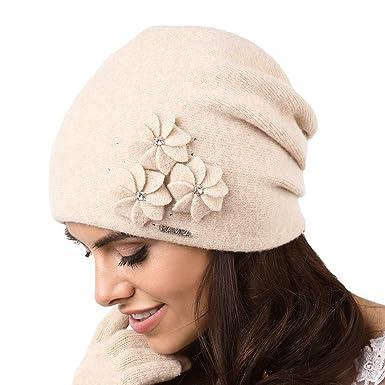 d2bb2a2049c Kamea Femmes Bonnets d hiver Laine Souple Siena