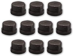 "Brooklyn Pipe 10 Pack 3/4"" Iron Caps"