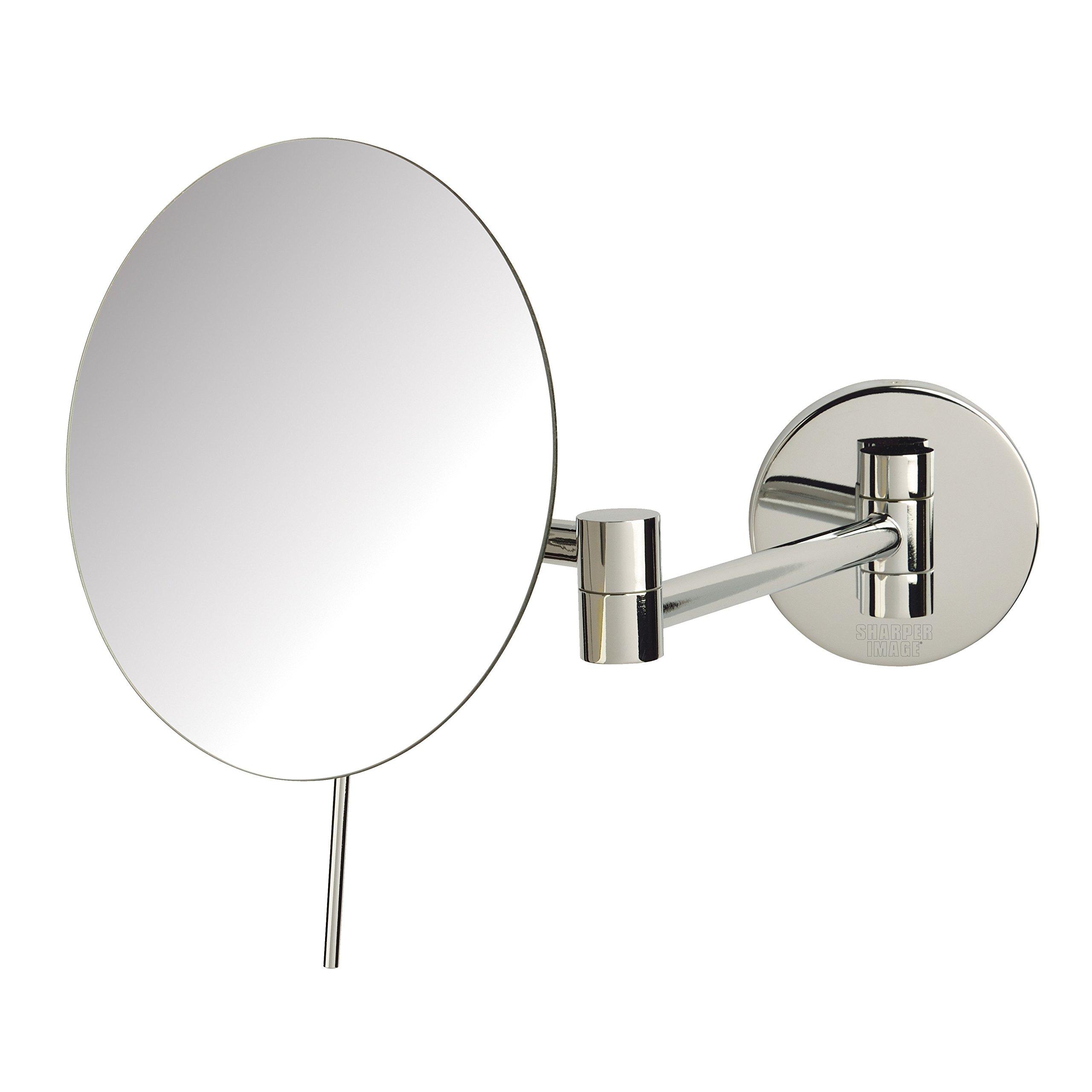 Sharper Image JRT685C 7.75-inch Slimline Wall Mount 5x Magnification Mirror, Chrome