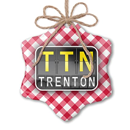 Amazon com: NEONBLOND Christmas Ornament TTN Airport Code