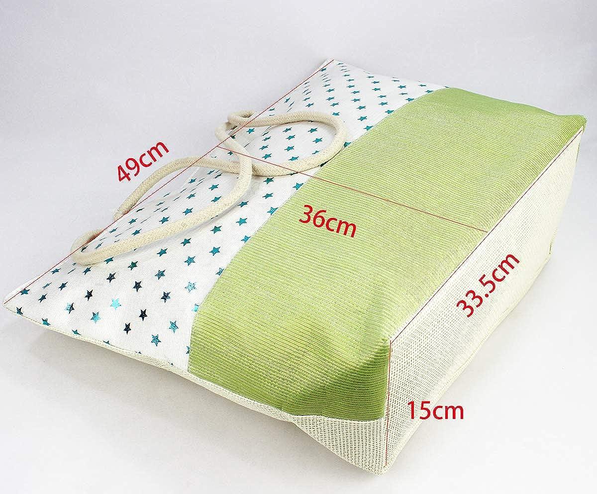 Colores y Dise/ños Variados Estampados FUREIN Bolsa de Playa y Compras Grande con Cremallera Asas de Cuerda para Hombro Mujer