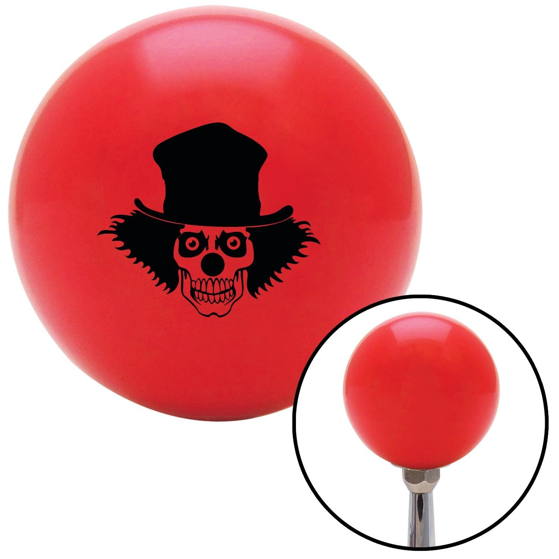 Black Skull Clown American Shifter 100975 Red Shift Knob with M16 x 1.5 Insert