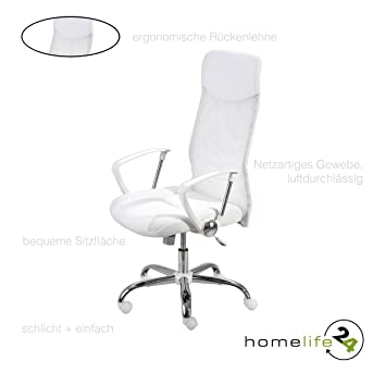 Bürostuhl Wippmechanik h24living ergonomischer bürostuhl drehstuhl chefsessel mit