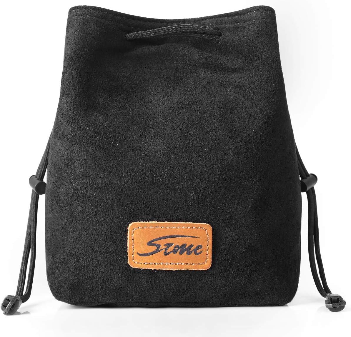 S-ZONE Soft Camera Bag DSLR Insert Handbag Drawstring Lens Case Compatible with Canon Nikon Sony
