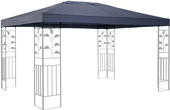 Quick-Star Repuesto para Hojas Cenador (3 x 4 m Carpa Techo Gris para Almohada: Amazon.es: Jardín