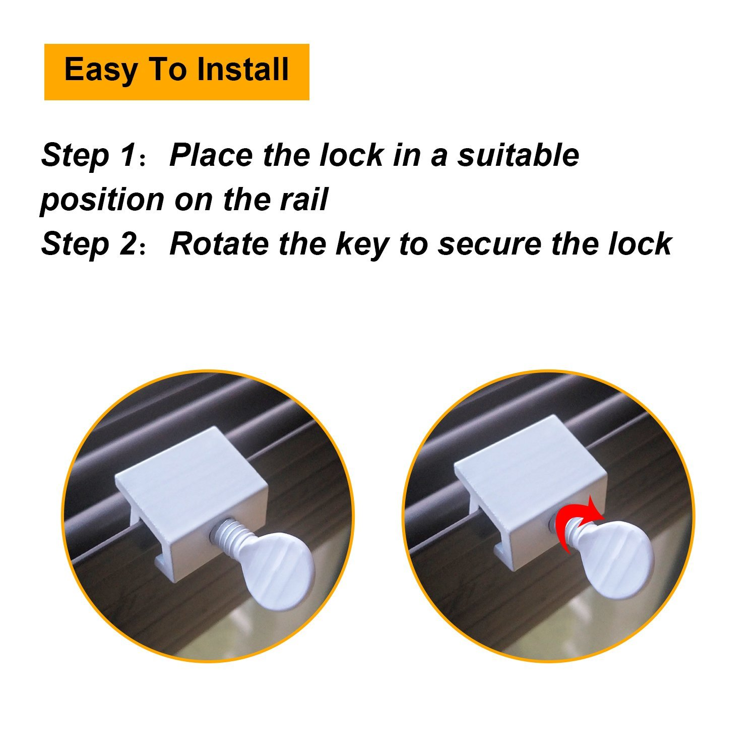 Boao Set of 15 Siding Window Locks Door Locks Adjustable Security Locks with Keys (White) by Boao (Image #3)