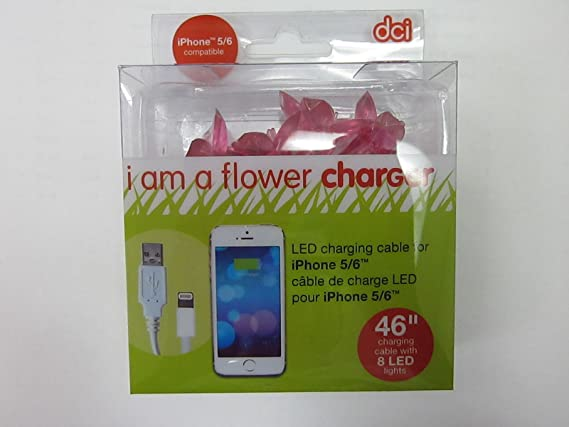 Compatible with iPhone 5 7 models DCI Unicorn LED Lights Glow in the Dark 6 46 inch USB and Charging Cable