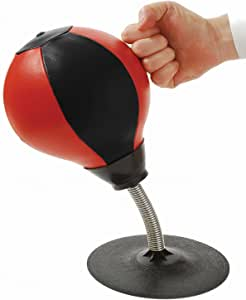 CozyBomB Desktop Punching Bag Gag Gifts for him - Stress Buster Relief Free Standing Desk Table Boxing Punch Ball Suction Cup Reflex Strain and Tension Toys for Boys Him Father Kids