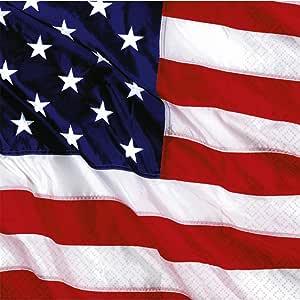 NET TOYS 16 servilletas de Papel 33x33cm Bandera EEUU Paño de Papel Americana diseño Estados Unidos decoración Servilletas para Fiesta Paños de Mesa Barras y Estrellas cumpleaños banderín: Amazon.es: Juguetes y juegos