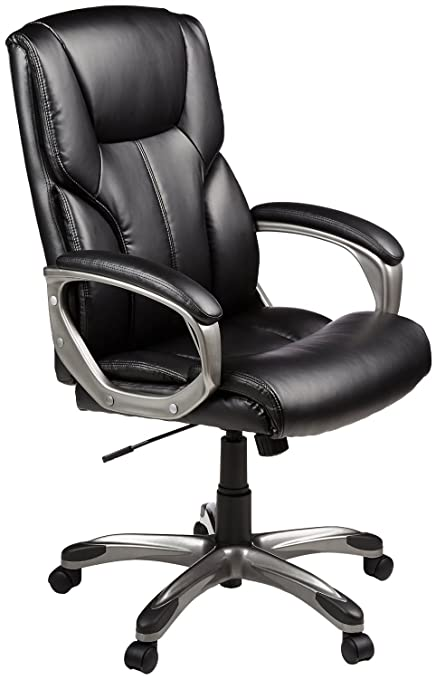 amazon com amazonbasics high back executive chair black kitchen