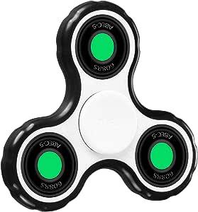 POAO Fidget Spinner Hand Spinner Juguete Tri Fidget para Adultos Niños Dedo Jouet- (Blanco): Amazon.es: Juguetes y juegos